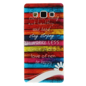 Colorful Boards and Quote for Samsung Galaxy A5 SM-A500F Glossy TPU Case