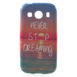 Glossy Gel TPU Phone Case for Samsung Galaxy Ace Style LTE G357FZ / Ace 4 G357FZ - Quote and Sunset