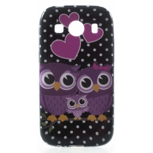 Glossy TPU Case Accessory for Samsung Galaxy Ace Style LTE G357FZ / Ace 4 G357FZ - Sweet Owl Family