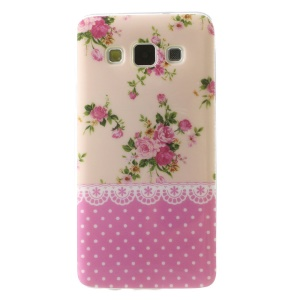 Glossy TPU Case for Samsung Galaxy A3 SM-A300F - Pretty Flowers and Polka Dots