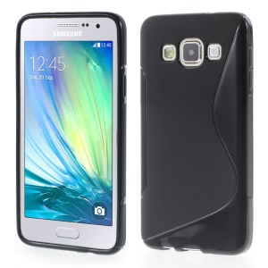 S-curve TPU Phone Cover for Samsung Galaxy A3 SM-A300F - Black