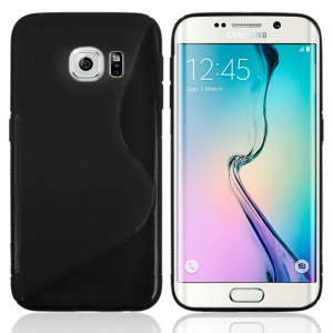 S Curve TPU Cover for Samsung Galaxy S6 Edge G925 - Black