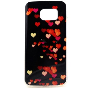 Colorful Hearts IMD TPU Gel Cover for Samsung Galaxy S6 SM-G925 Edge