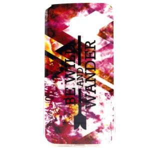 Be Wild and Wander Pattern IMD TPU Cover Case for Samsung Galaxy S6 SM-G925 Edge