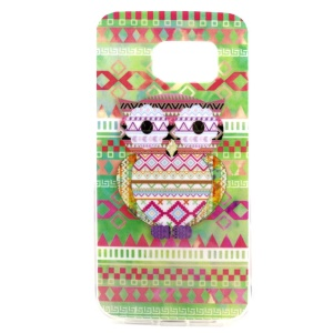 Adorable Owl and Triangle IMD TPU Shell for Samsung Galaxy S6 SM-G925 Edge