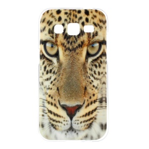 Glossy Skin TPU Gel Cover for Samsung Galaxy Core Prime G360 - Leopard Head