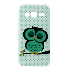 For Samsung Galaxy Core Prime G360 TPU Gel Cover Case - Green Napping Owl