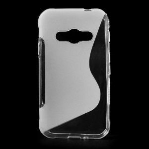 S Shape TPU Shell Case pour Samsung Galaxy Xcover 3 SM-G388F - transparent