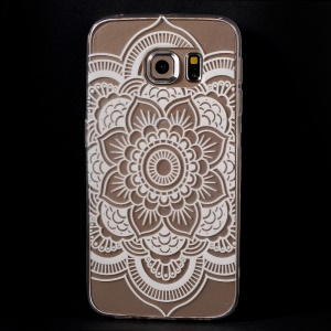 Color Printing Protective TPU Case for Samsung Galaxy S6 Edge G925 - Stylish Mandala Flower