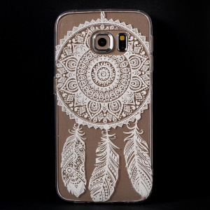 Color Printing Protective TPU Case Cover for Samsung Galaxy S6 Edge G925 - Dream Catcher
