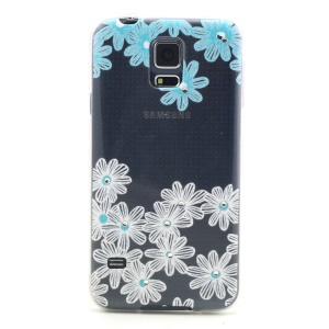 Relief Diamond Flower Studded Embossed TPU Shell Case for Samsung Galaxy S5 G900 / S5 Neo