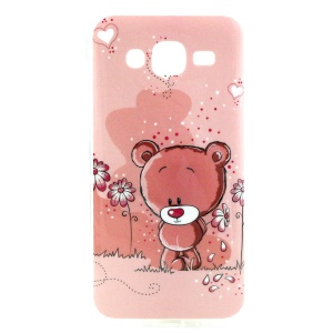 Flowers and Bear IMD TPU Case Cover for Samsung Galaxy J5 SM-J500F