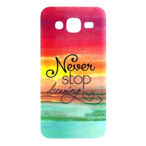 Soft IMD TPU Shell for Samsung Galaxy J5 SM-J500F - Quote Never Stop Dreaming