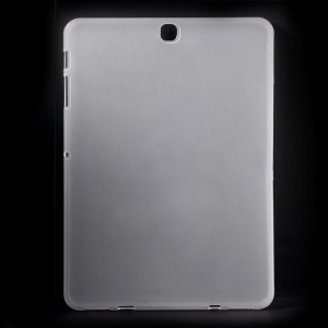 Glossy Outer Matte Inner TPU Case for Samsung Galaxy Tab S2 9.7 T810 T815 - Transparent