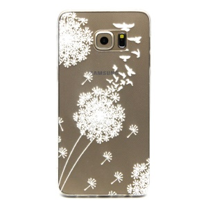 Embossed TPU Protective Case for Samsung Galaxy S6 edge Plus G928 - White Dandelion