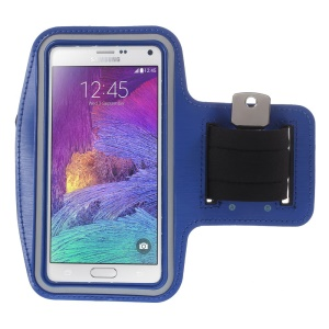 For Samsung Galaxy Note 4 N910 / Note 3 N9000 / Galaxy A7 SM-A700F Running Jogging Sports Armband Case - Blue