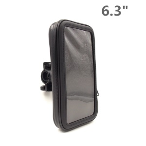 Bicycle Handlebar Mount Waterproof Case for Samsung Galaxy Mega 6.3 I9200, Inner Size: 168 x 9mm - Black