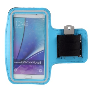 Running Sports Armband Pouch for Samsung Galaxy S7 edge/ S6 edge+ / Note 5 - Baby Blue