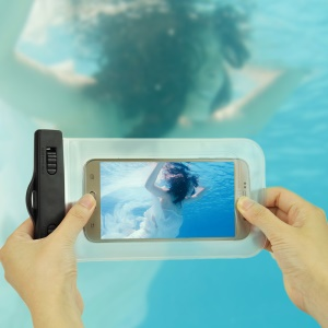 Waterproof Diving Bag Cover for Samsung iPhone Sony, Size: 20.5 x 11.5 x 1.5cm - White