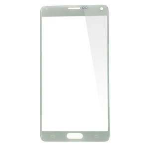 White Front Glass Lens Screen Cover for Samsung Galaxy Note 4 N910