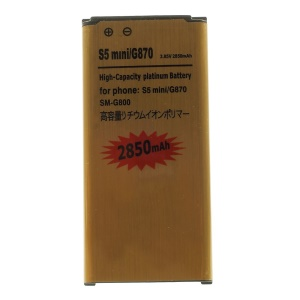 2850mAh High Capacity Gold Battery Replacement for Samsung Galaxy S5 mini G800