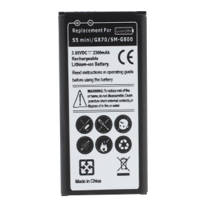 2300mAh Li-ion Battery Replacement for Samsung Galaxy S5 mini G800