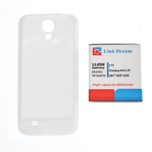 LINK DREAM 6000mAh Extended Battery for Samsung Galaxy S4 I9500/I545/I337/L720/M919/R970 with Back Cover