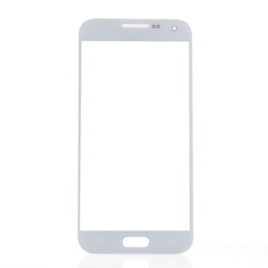 Front Screen Glass Lens Repair Part for Samsung Galaxy E5 - White