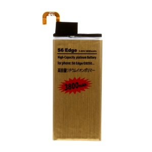3800mAh Gold Color Li-polymer Battery Replacement for Samsung Galaxy S6 Edge G925