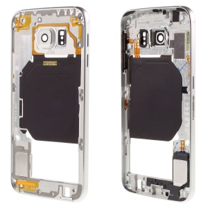 OEM Middle Housing Cover Frame for Samsung Galaxy S6 SM-G920 - Silver
