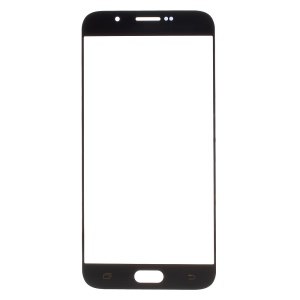 For Samsung Galaxy A8 SM-A800F Front Outer Screen Glass Lens Replacement - Black