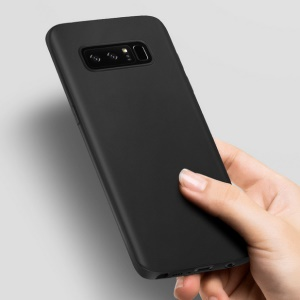 Matte Anti-fingerprint Light TPU Protection Back Phone Case for Samsung Galaxy Note 8 - Black
