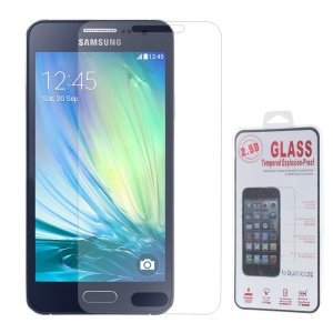 0.25mm Explosion-proof Tempered Glass Screen Film for Samsung Galaxy A3 SM-A300F (Arc Edge)