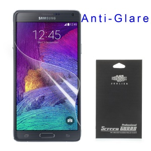 Anti-glare Matte Screen Protector Film for Samsung Galaxy Note 4 N910 (with Black Package)