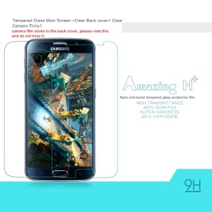 NILLKIN Front Tempered Glass Screen Film for Samsung Galaxy S6 G920 Amazing H+ Nanometer Anti-Explosion with Back Clear Protector