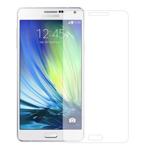 0.3mm Tempered Glass Screen Guard Film for Samsung Galaxy A7 A700F, Anti-explosion and Curved Edge