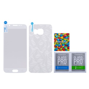 MOMAX Glass Pro+ Tempered Glass Protector for Galaxy S6 G920 0.2mm Full Frame (Front & Rear) - White