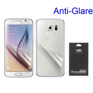 Matte Anti-glare Front and Back Screen Protectors for Samsung Galaxy S6 G920 (With Black Package)