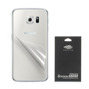 Crystal Clear Protective Back Film for Samsung Galaxy S6 G920 (With Black Package)