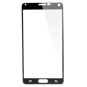 Silk Print Tempered Glass Screen Film for Samsung Galaxy Note 4 N910 Complete Covering - Black