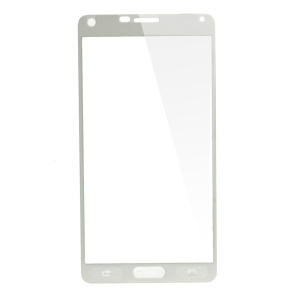 Silk Print Tempered Glass Screen Film for Samsung Galaxy Note 4 N910 Complete Covering - White
