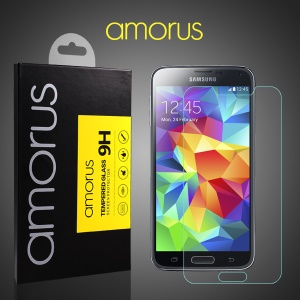 AMORUS Tempered Glass Screen Protector for Samsung Galaxy S5 G900 Anti-explosion 9H Arch Edge