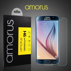 AMORUS for Samsung Galaxy S6 G920 Tempered Glass Screen Protector LCD Guard Rounded Edge