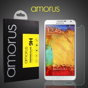 For Samsung Galaxy Note 3 N900 AMORUS Tempered Glass Screen Protector Anti-explosion 9H Arch Edge