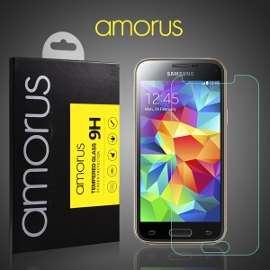 AMORUS for Samsung Galaxy S5 Mini G800 Tempered Glass Screen Protector Rounded Edge