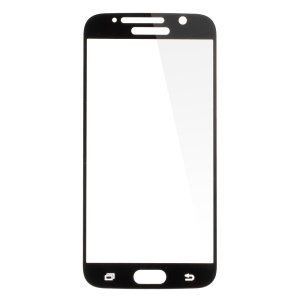 Plating Tempered Glass Screen Film for Samsung Galaxy S6 G920 Complete Covering - Black
