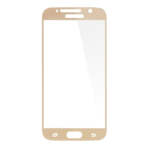 Plating Tempered Glass Screen Film for Samsung Galaxy S6 G920 Complete Covering - Champagne