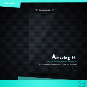 NILLKIN Tempered Glass Screen Film for Samsung Galaxy J7 SM-J700 Amazing H Nanometer Anti-Explosion