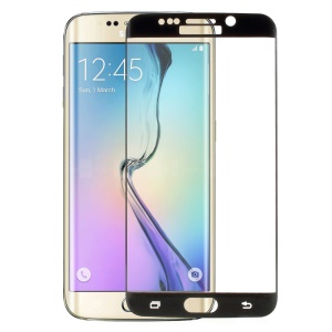 FEMAFull Coverage Tempered Glass Screen Guard for Samsung Galaxy S6 Edge G925 Explosion-proof - Black