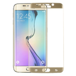 PDGD Full Coverage Tempered Glass Screen Protector for Samsung Galaxy S6 Edge G925 Explosion-proof - Gold